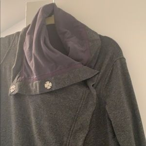 Gray Lululemon sweater jacket